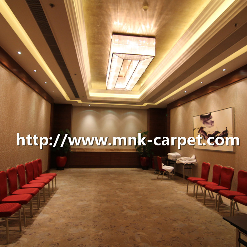MNK Axminster Carpet Wall To Wall Machine Made Wool Carpet For Banquet