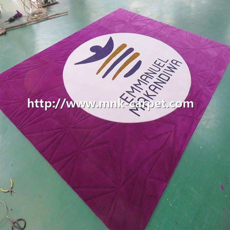 100% New Zealand Wool Handtufted Carpet For Lobby Floor