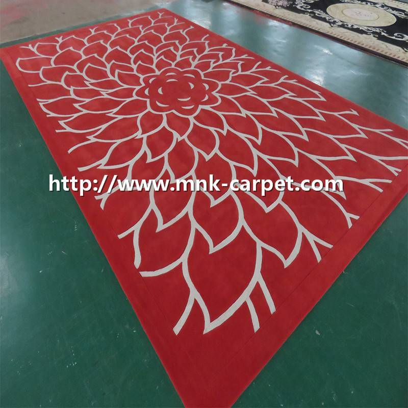 Simple Style Customized Pattern Handmade Carpet  High Quality Carpet
