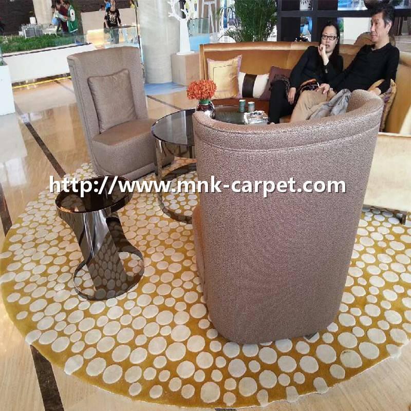 MNK Round Pattern Carpet Lounge Room Rug