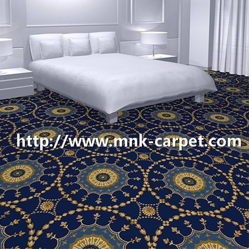 MNK Wall to Wall Axminster Carpet Hotel Bedroom Carpet